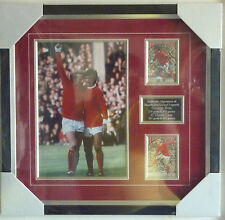 George Best & Denis Law Manchester United genuine autographs framed with COA