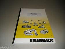 Manuel d 'utilisation LIEBHERR r 317 LITRONIC pelle hydraulique stand 2004