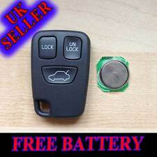 VOLVO 3 BUTTON S40 V40 S70 C70 V70 Remote Key FOB Remote Case with Free Battery