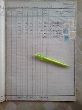 GRAN LIBRO LLENO DE + 120 SELLOS FISCALES VARIOS TIPOS Y VALORES,DE 1943,REVENUE