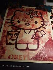 Shepard Fairey OBEY Hello Kitty RED Print (Sanrio Giant) signed and numbered