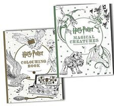 Harry Potter 2 Book collection inc Magical Creatures Adult + kids colouring set