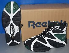BOYS REEBOK KAMIKAZE I MID in colors WHITE / BLACK / GREEN SIZE 5.5