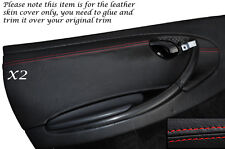 RED STITCHING 2X DOOR CARD TRIM  SKIN COVERS FITS PORSCHE 986 BOXSTER 96-04