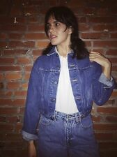 Vintage 90s J. Crew Crop Denim Jacket Womens Blue Jean (1175)