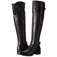 BORN $300 BLACK LEATHER TARYN ROSE SELYSE OVER KNEE RIDING BOOTS 9.5