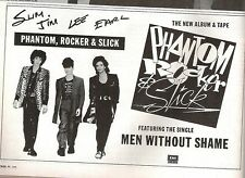 PHANTOM, ROCKER & SLICK (Stray Cats) UK magazine ADVERT / Poster 8x6 inches