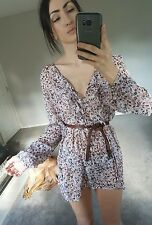 Floral print sheer transparent tunic dress top 10 12 hippy boho romantic festiva