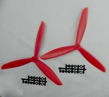 2PCS Three 3 Blade Propeller 1045 10*4.5 CW CCW red for Quadcopter Multicopter