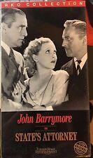 State's Attorney (VHS) SEALED: 1932 courtroom drama stars John Barrymore