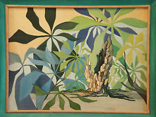 Cubism 'PALM TREES' by Joyce Joseph Oil Painting Expressionism California Artist