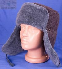 Original Russian Army Soviet USSR Ushanka winter hat size 62 (7 3/4) XXL