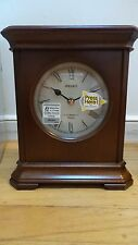 """Seiko Fraser Musical Chiming Melody Desk Table Brown Wood Clock 7"""" x 7 3/4"""" x 3"""