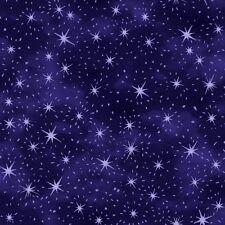 Fat trimestre Nite hibou violet étoiles 100% coton tissu de matelassage ciel de nuit