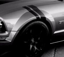 NEW FORD MUSTANG Black Glossy Vinyl Shelby Car FENDER RACING STRIPES Driver Side
