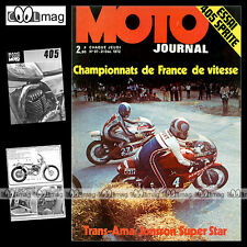 MOTO JOURNAL N°97 SPRITE 405 HONDA MIGHTY DAX SUZUKI GT 750 GUZZI V7 TRIAL 1972
