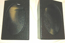 "PROBOX  6 x 9 "" SPEAKER BOX  ARMOR-COATED BLACK ENCLOSURES SUBWOOFER PAIR NEW"
