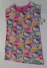 womens Large XL Hello Kitty nightshirt nightgown new pink cupcakes 14 16 18