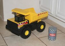 TONKA Mighty Dump Truck 768 - 1999 Steel with Oil Barrel Drum