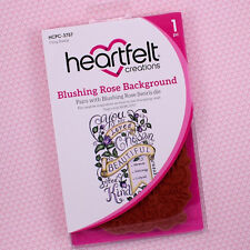 Heartfelt Creations Cling Rubber Stamp Set, Blushing Rose Background, HCPC3757