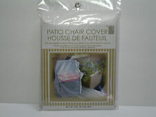 "NEW CLEAR PLASTIC OUTDOOR PATIO CHAIR COVER 33""X27""X34"""