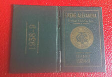 VERY RARE SEASON TICKET BOOK - CREWE ALEXANDRA - 1938- 1939 - ONLY A FEW EXIST