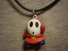 Super Mario Brothers Galaxy Shy Guy Figure Charm Necklace Kawaii Cute Jewelry
