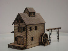 Z SCALE - GOLD MEDALL MILL WITH WATER WHEEL -LASER CUT STRUCTURE FULLY ASSEMBLED
