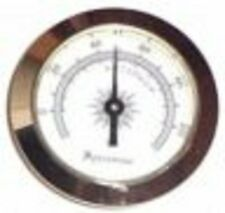 "Analog Hygrometer ~ Brass Frame 2"" Glass Face Hygrometer and Humidifier Set #8"