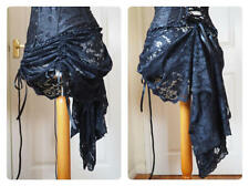 Black Lace Skirt Mini Bustle Victorian Steampunk Gothic Lolita Tribal 12 14 16