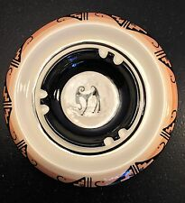 Vintage Ute Mountain Tribe Pottery Ashtray signed by H. Lansing Jr.