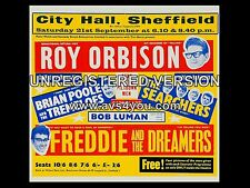 "Roy Orbison / Searchers/ Searcher Sheffield 16"" x 12"" Photo Repro Concert Poster"