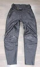 "Vintage Black Leather POLO Biker Motorcycle Jeans Trousers Pants Size W29"" L28"""