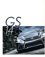 2014 Lexus GS GS350 F Sport Hybrid 26-page Original Car Sales Brochure Catalog