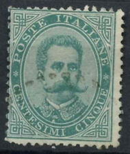 Italy 1879-82 SG#31, 5c Green Used #D8781