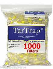 TarTrap Bulk Disposable Cigarette Filters Pack (1000 Filters), Tarbar It Now