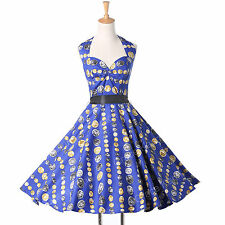 2016 Vintage Retro Swing 50's Pinup Housewife Party Dress Size L❤Cheapest❤