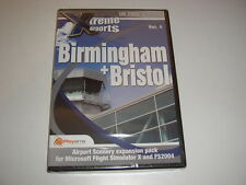 Xtreme Airports BIRMINGHAM + BRISTOL Pc Add-On Flight Simulator X 2004 FSX NEW