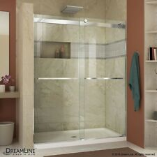 "DREAMLINE ESSENCE 56""-60"" X 76"" BYPASS SLIDING SHOWER DOOR, 5/16"" CLEAR GLASS"