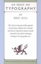 Essay on Typography by Eric Gill (1993, Paperback)