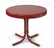 Crosley Crosley Retro Metal Side Table, Coral Red New