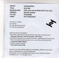(EE455) Harlelghblu, Play Me - 2013 DJ CD