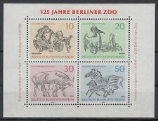 Germany Berlin 1969 ** Bl.2 Tiere Animals Zoo Affen Apes Zebra Pelikan Gaur