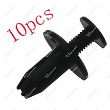 10X Plastic Panel Rivets Retainer Clips 6mm Hole for Car Bumper Fender Black