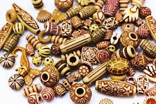 Bohemian Mix Bead Brown Boho Ethnic Tribal Mixed Pack Supplies Acrylic 100pcs