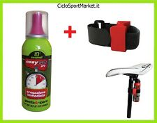 FAST CO2 (GONFIA E RIPARA) 100ML + SUPPORTO IN VELCRO Bicicletta MTB / Strada