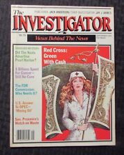 1981 THE INVESTIGATOR Magazine #1 VG/FN 5.0 Red Cross OPEC