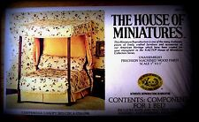 DOLLHOUSE HOUSE OF MINIATURES CHIPPENDALE CANOPY BED KIT, AN ANTIQUE REPLICA