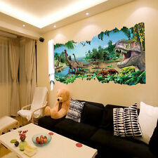 Jurassic World Dinosaur Scroll Art Wall Sticker Decal Kids Room Bedroom Decor