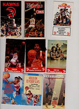 17 Atlanta Hawks NBA Basketball schedules 1979-03 Fratello Dominique Wilkens